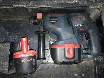 Bosch Professional GBH 24v Cordless Hammer Drill 2x Batteries And Charger GWO