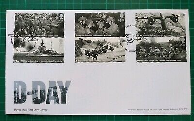 2019 75th Anniversary D-Day ALL Set of 6 on FDC Tallents House postmark