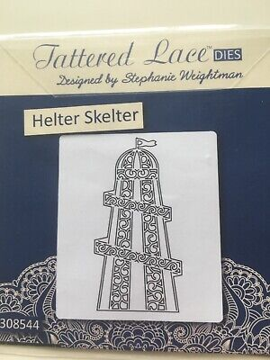 Tattered lace dies Helter Skelter cutting die cutter paper craft cardmaking used