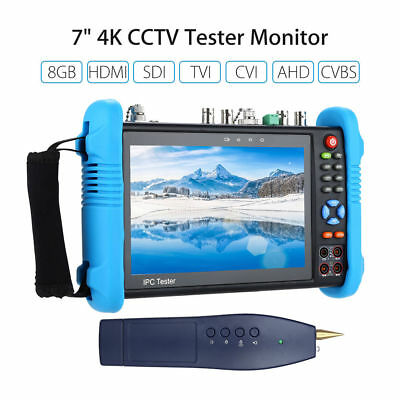 "7"" 4K CCTV IP Touch Screen Tester Monitor 8GB HDMI TVI AHD CVBS Camera PTZ POE"