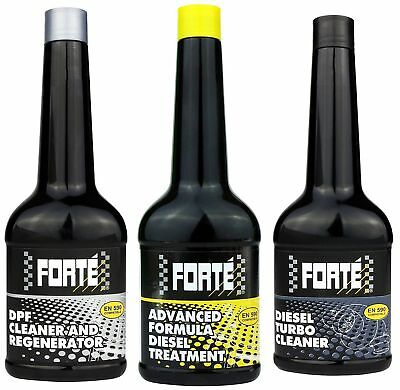 Forte Diesel Treatment+ Turbo Cleaner+ Dpf Cleaner And Regenerator *Triple Pack*
