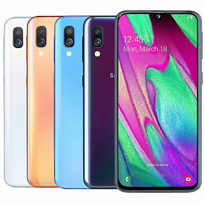 SAMSUNG Galaxy A40 SM-A405FN/DS 64 GB Dual SIM LTE Android Smartphone Handy OVP