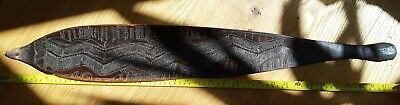 Antique Aboriginal Engraved Woomera Spearthrower Hunting Fighting