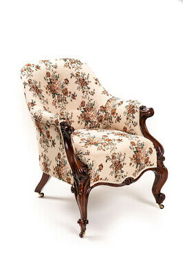ANTIQUE LOUIS XV CHAIR newly reupholstered