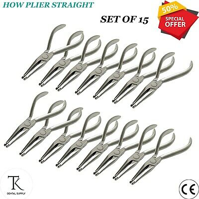 15 x Dental Orthodontic How Plier STR Archwire Placement Ortho Laboratory Tools