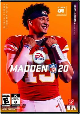 Madden NFL 20 - PC (Code Inside Sealed Box) PREORDER* SHIPS ON 8/2/2019*