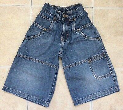BOYS M&S Beckham Blue Denim Shorts Age 4 Years with an Elasticated Waist