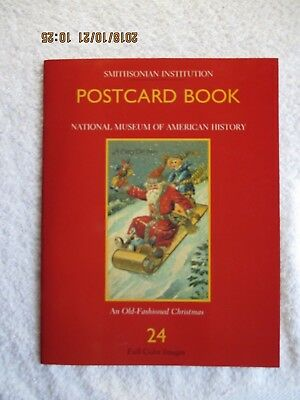 Smithsonian Institution Postcard Book An Old Fashioned Christmas 24 PostcardsNew