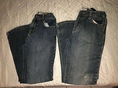The Childrens Place Boys Lot Of Two Pieces Distressed Bootcut Jeans Size 8