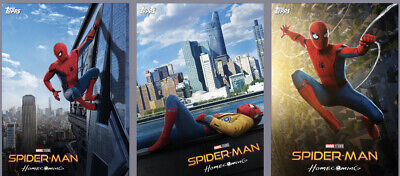 Topps Marvel Collect Card Trader Spider-Man Homecoming Posters Set of 3