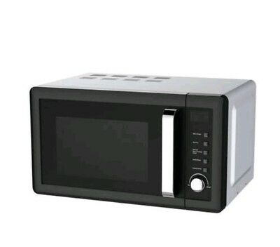 Black & Silver 800W 20L Microwave -See All Pictures  #797