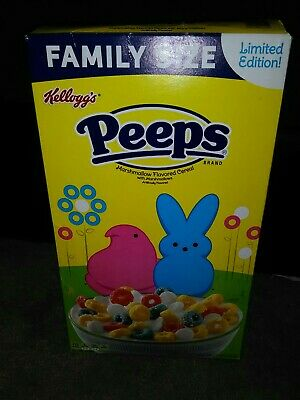 Peeps Marshmallow Flavored Cereal * Limited Edition! * 18.7 Oz. Family Size Box!