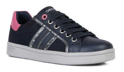Geox J DJRock G G Navy Girls Lace Up Trainers - 100% Positive Reviews