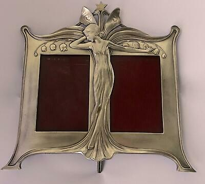 Outstanding WMF Secessionist Art Nouveau Double Photo Frame: Maiden