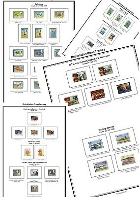 Print your own British Indian Ocean Stamp Album, fully illustrated and annotated