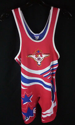 Junior Olympics Freestyle Wrestling AAU USA Brute Size Adult Small Vintage 1980s