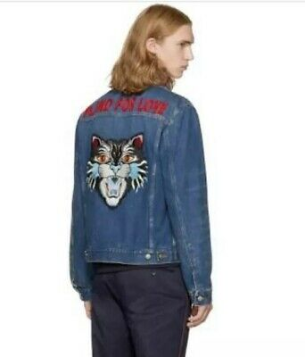 c0106753e SOLD OUT $3350 Guccify GUCCI Tiger Embroidered Denim Jacket Sz EU 48 ...