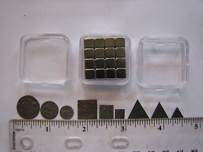 Pyrolytic Graphite Levitation Kit-- 9 Graphite Shapes, Magnets, and Storage Case