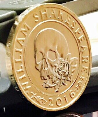 2016 £2 COIN WILLIAM SHAKESPEARE RARE TWO POUNDS Uncirculated