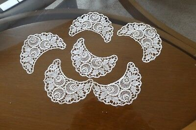 Vintage Hand Made Lace Collar Pieces (6) or Crafting Work