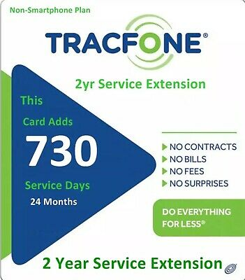 Tracfone Refill 2 Years 730 Days Service Extension Basic Phone