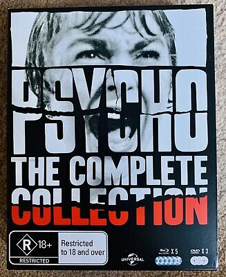 Psycho Complete Collection 8 Disc Box Set Blu-Ray/DVD Legacy Rare Hitchcock