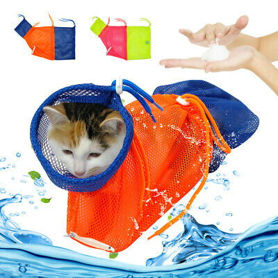 Mesh Cat Grooming Bathing Restraint Bag for Washing Anti-Scratch Nail Cut Bag