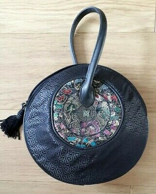 CHICO'S Circular Chinese Design Handbag Unusual
