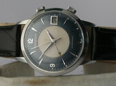 1960s VINTAGE Jaeger Memovox 855 JLC 37 mm Large Alarm Wristwatch Le Coultre