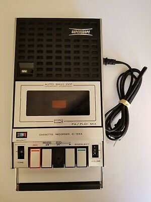 Superscope Cassette Recorder Player C103A Power Cord 1974