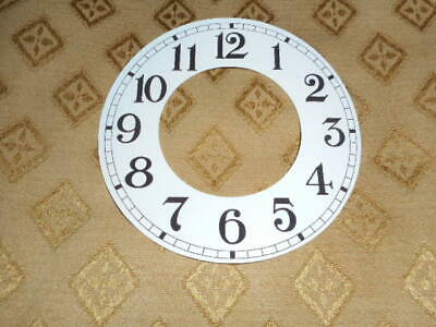 "Round Paper Clock Chapter Ring- 5 1/4"" M/T-Arabic-GLOSS WHITE-Clock Spares"