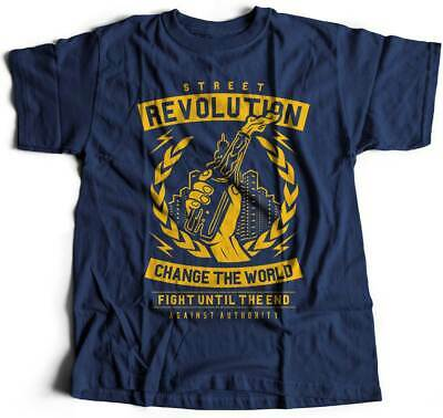 Mens T-Shirt Street Revolution Quotes Trust No One Keep Alive Fight For Freedom