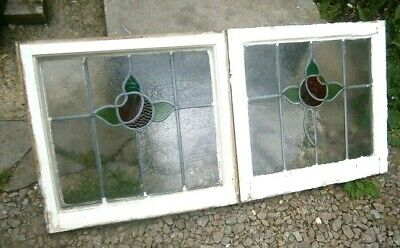 🌟 1 Vintage Reclaimed Stained Glass  Window  Flower 🌟