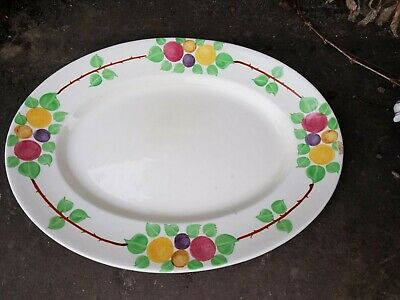Vintage Ridgways Bedford Ware California 6962 Hand Painted, oval platter