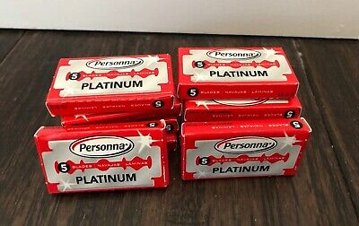 Personna Israeli Platinum Red Chrome Double Edge Stainless Steel 10 Boxes 50 Tot