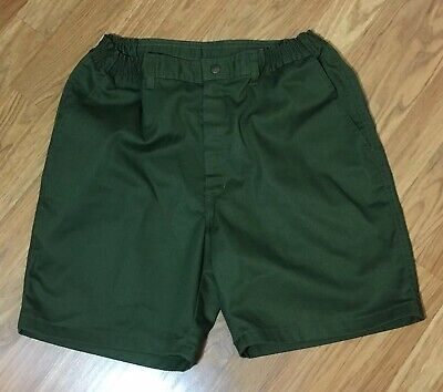 Vintage Mens Size 33 BSA Official Boy Scouts Of America Green Uniform Shorts
