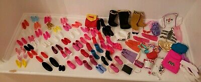 Lot Of over 100 pcs Accessories For Barbie Size Dolls Shoes Purses other