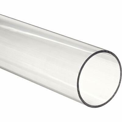 "3 pieces - Acrylic Tube 1-1/2"" OD x 1-1/4"" ID - 12"" Long CLEAR (For DIY, Craft)"