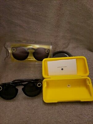 Snap Inc. Snapchat Spectacles Glasses - Black w/ Case and Charging Cable