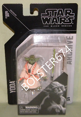 """YODA JEDI MASTER Black Series Archive 6"""" Scale (Yoda is about 3"""") Star Wars 2019"""