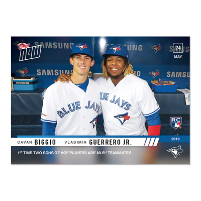 2019 Topps NOW Vladimir Guerrero Jr./Cavan Biggio #275 ~ Blue Jays ~ PR 2007!