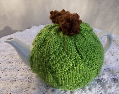 Tea Cosy. Hand Knitted Pinecone Tea Cosy. (Cosie-Cozy)