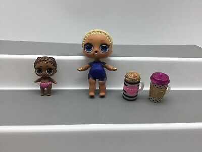 LOL Bigger And Lil Surprise Dolls Baby Glitter Figure Retired Secret Agent Lot
