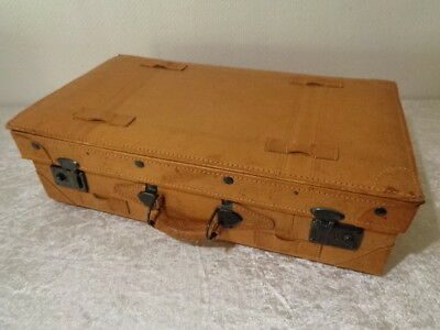 Suitcase in Leather Look