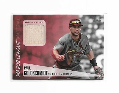 2019 Topps Series 2 Paul Goldschmidt Game Used Bat Relic Cardinals