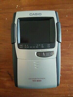 Vintage / Casio (Tv-880) Analog Lcd Color Television With 2.3'' Screen