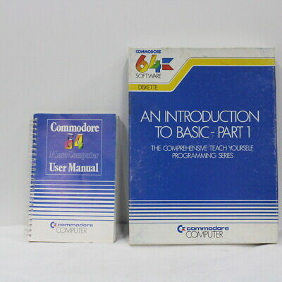 Commodore 64 Software An Introduction to Basics & User Manual #452