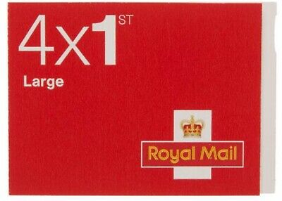 Book of 4 Royal Mail Large First Class Stamps - Self Adhesive.  New and Unused.