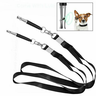 Dog Whistle with Lanyard Professional Training Recall Ultrasonic Pitch Sound NEW