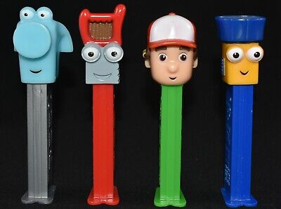 4 X Collectable Used Handy Manny Pez Dispensers Handy Manny Dusty Pat Flicker